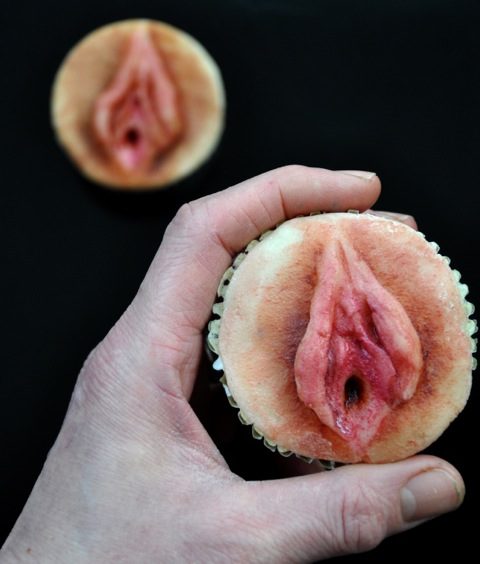 Vagina Cupcake http://evilcakehead.com/2013/02/04/under-the-counter ...
