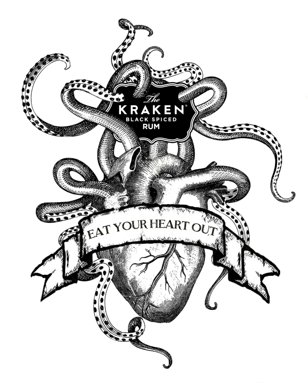 Release The Kraken Monsters Ink ART MACABRE DRAWING